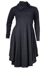 Boris Industries jurk cirkelmodel lange mouw div kleuren t/m maat 50