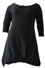 Boris Industries jurk boothals div kleuren t/m maat 50