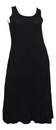 Boris Industries jurk smock zwart tot maat 48/50