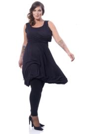 Boris Industries jurk en vestje zm zwart tot maat 48/50